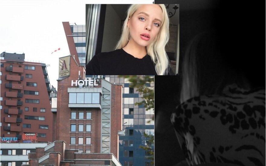 """Viešbutis """"Amberton"""", Dovilė Didžiunaitytė ir kadras iš nutekinto video"""