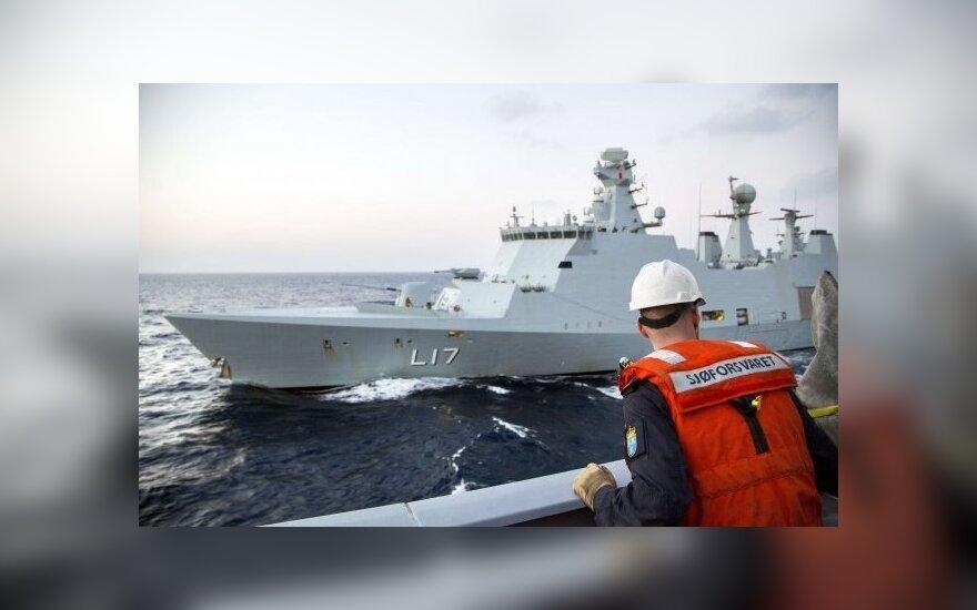 Norvegijos ir Danijos laivai, kurie dalyvaus Sirijos cheminio ginklo išgabenime