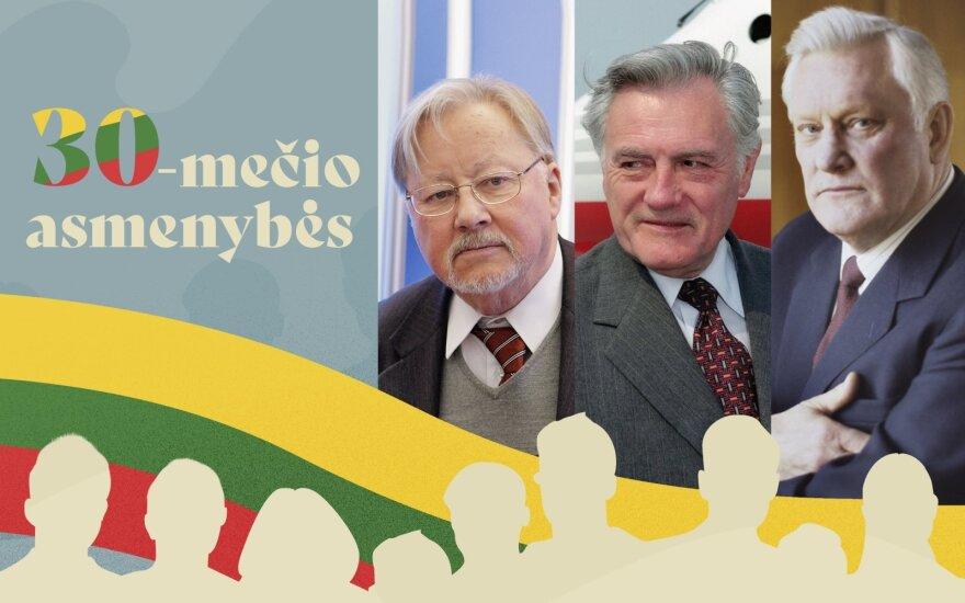 Vytautas Landsbergis, Valdas Adamkus, Algirdas Brazauskas