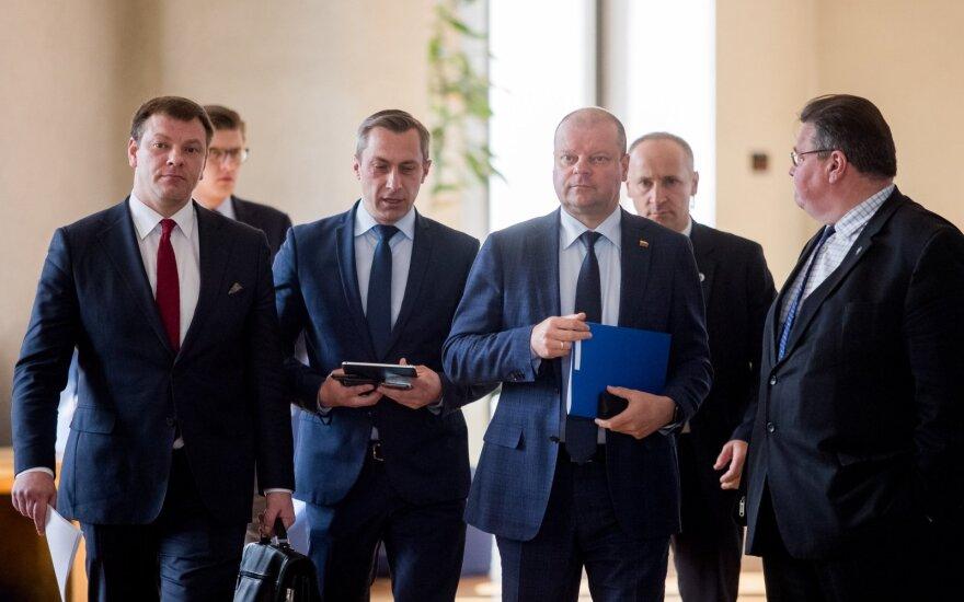 Vilius Šapoka, Tomas Beržinskas, Saulius Skvernelis, Linas Linkevičius