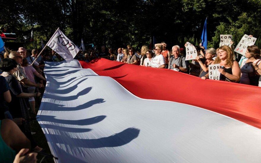 Полиция Варшавы задержала гражданина Беларуси за оскорбление польского флага