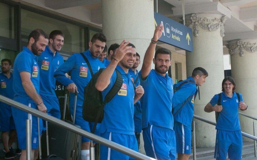 В четверг в Вильнюс прилетела сборная Греции по футболу