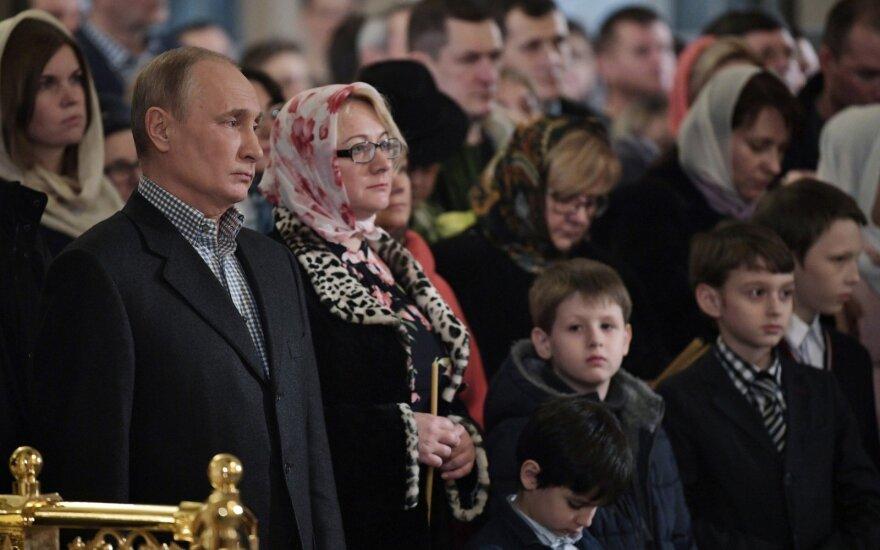 Путин поздравил россиян с Рождеством словами из пасхального пресс-релиза