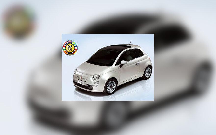 """""""Fiat 500"""" - 2008 m. Europos metų automobilis"""