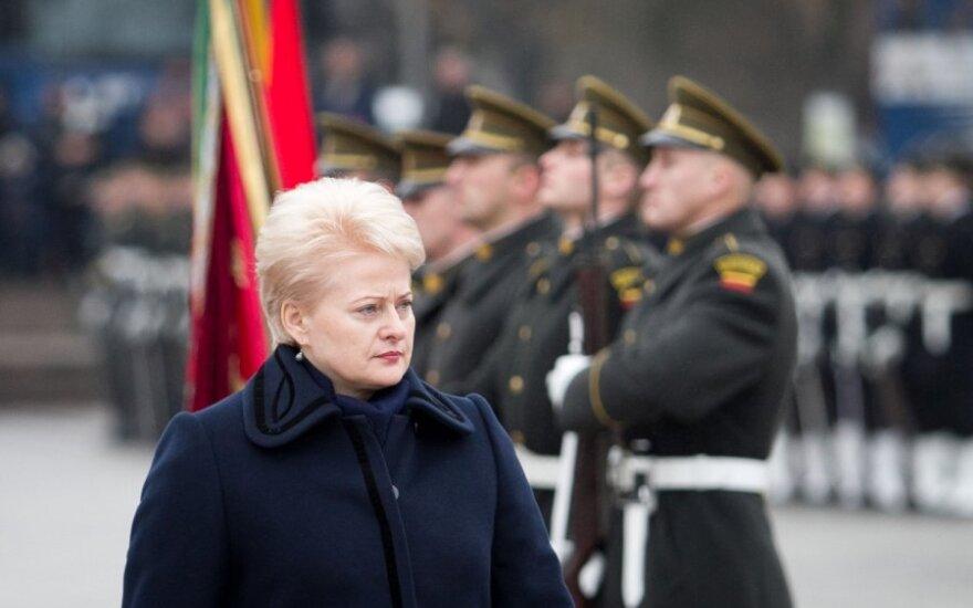 Грибаускайте: армия воплощает уважение к своей стране