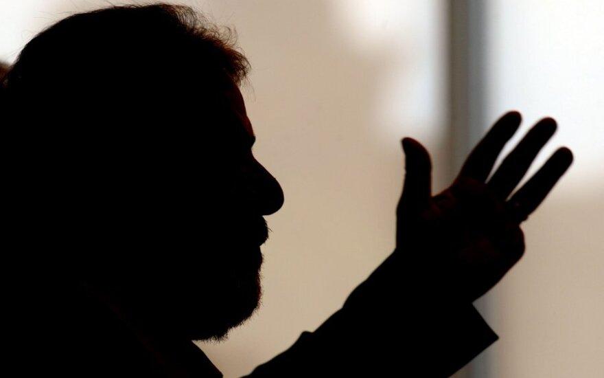 Brazilijos prezidentas Luiz Inacio Lula da Silva bendrauja su žurnalistais