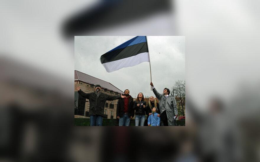 Mitingo, skirto Estijai palaikyti, dalyviai
