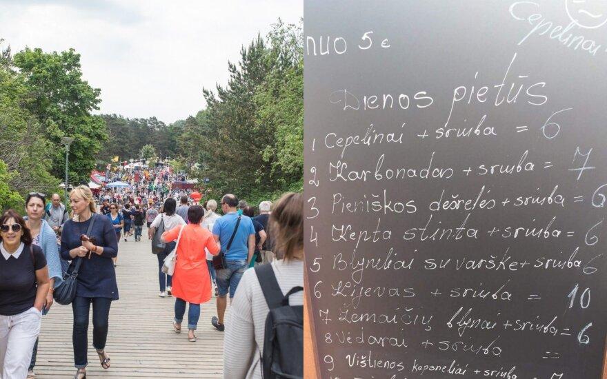 Отдыхающие в Паланге возмущены ценами на цеппелины