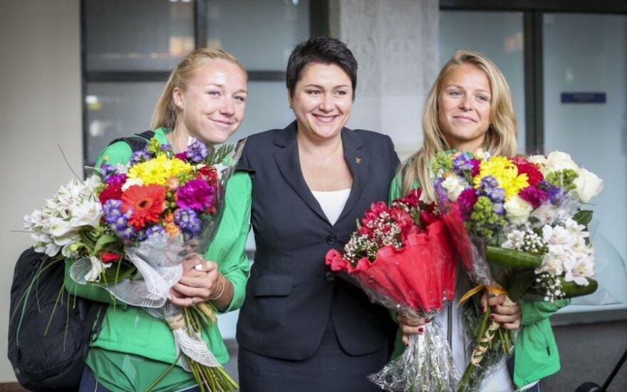 Ieva Dumbauskaitė, Daina Gudzinevičiūtė ir Monika Povilaitytė
