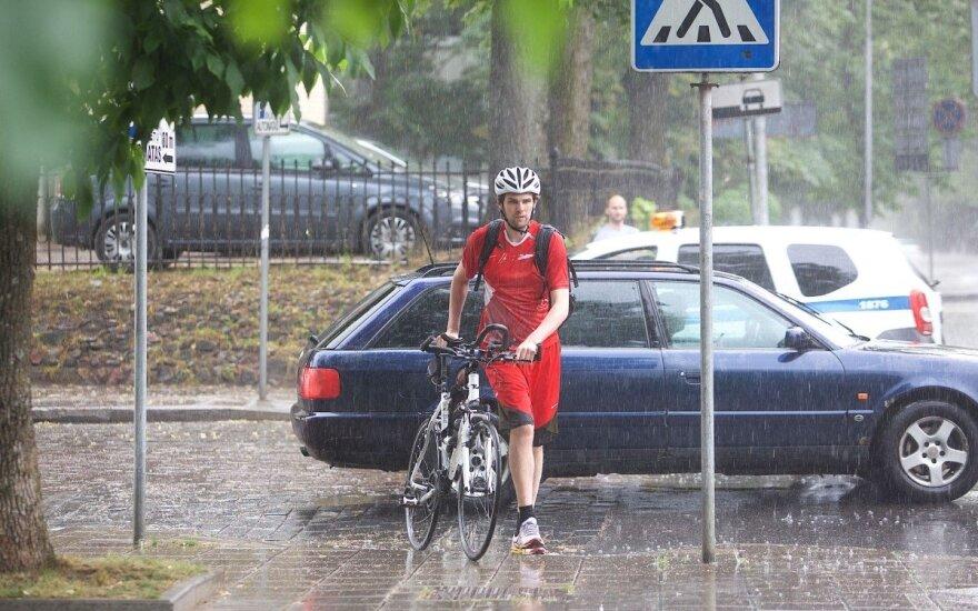 Вильнюс освежил дождь