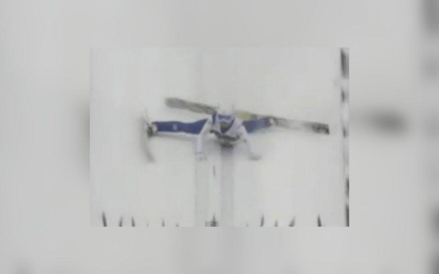 Самый неудачливый прыгун с лыжного трамплина