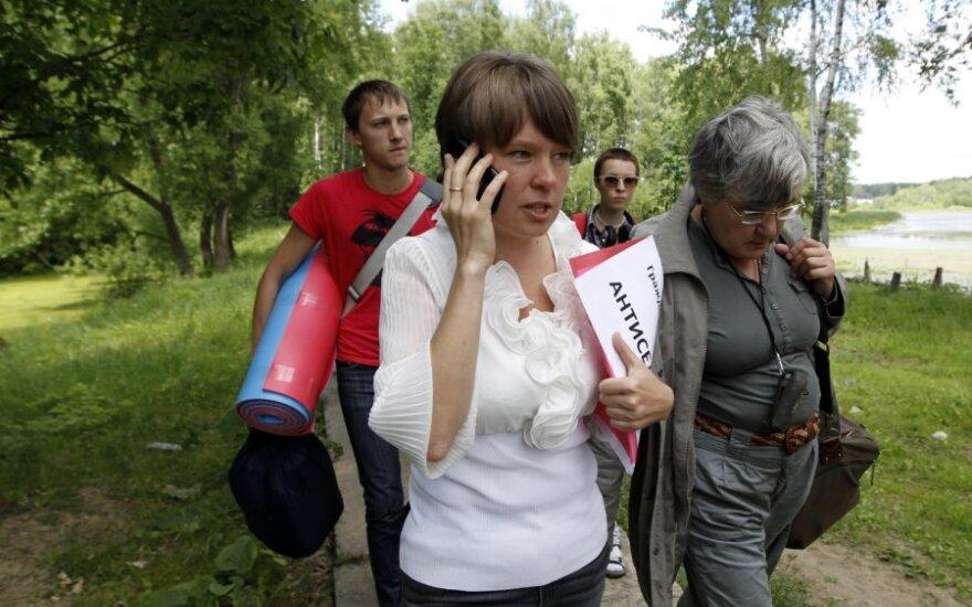 Лидер защитников Химкинского леса получила травму головы