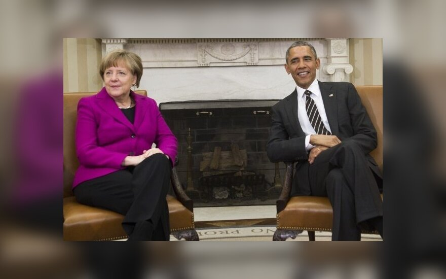 A. Merkel susitiko su B. Obama
