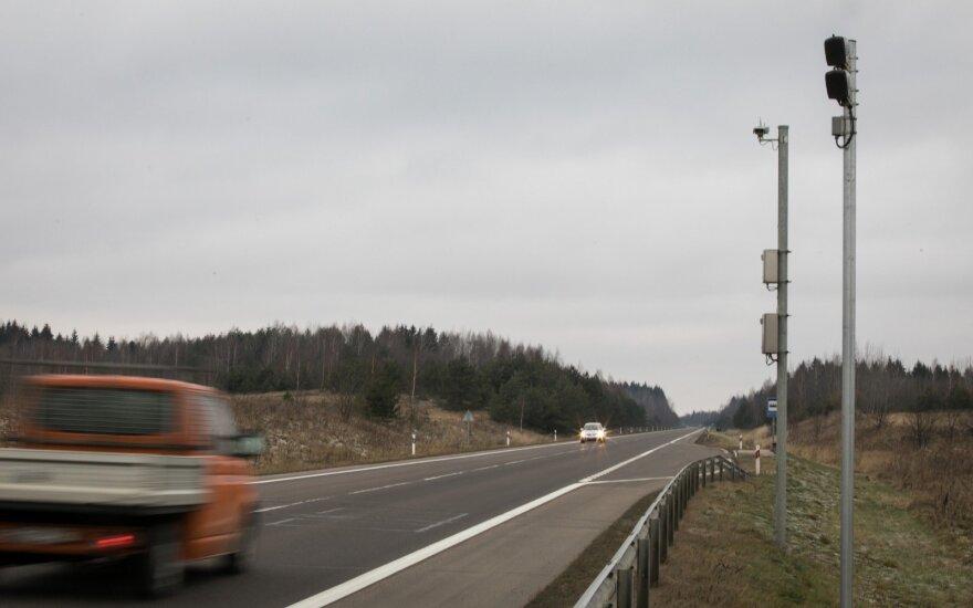 Первые данные секторных измерителей средней скорости в Литве: больше 2,8 млн. нарушений