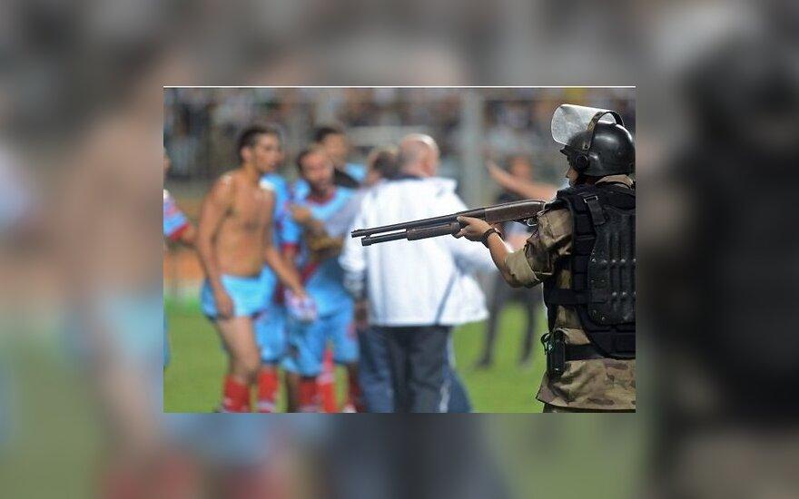 Футболисты Аргентины повздорили со спецназом