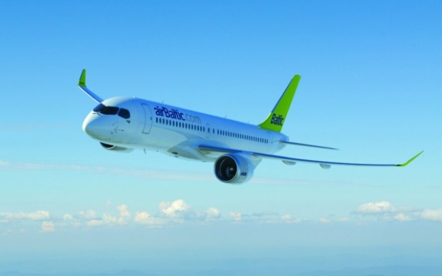 airBaltic Bombardier lėktuvas