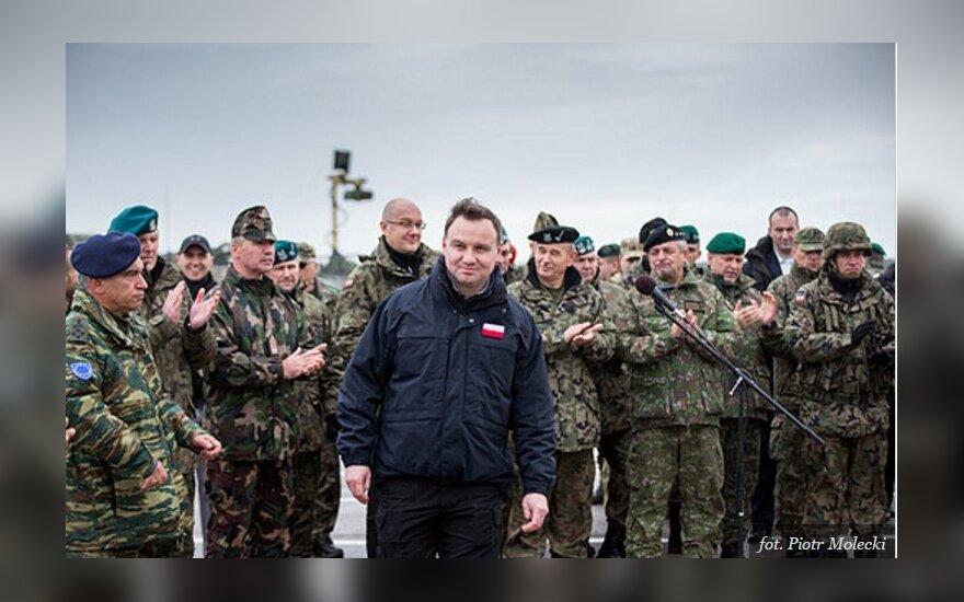 Andrzej Duda na poligonie w Drawsku Pomorskim. Foto: prezydent.pl
