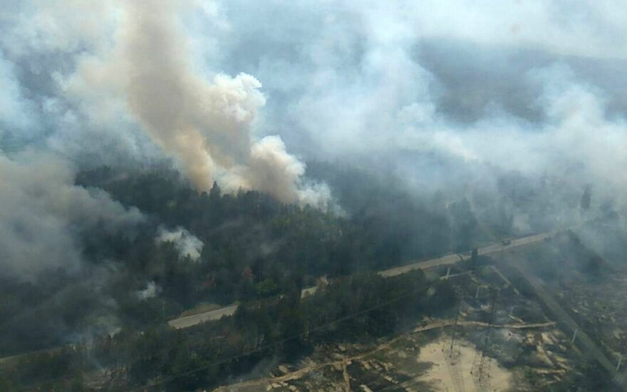 Dega miškas šalia Černobylio
