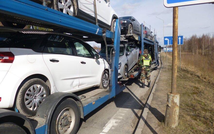 Литовские пограничники задерживают всё больше украденных за рубежом автомобилей