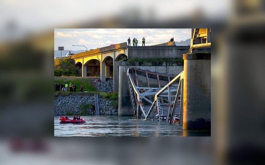 В США обрушился мост, в реке оказались машины и люди
