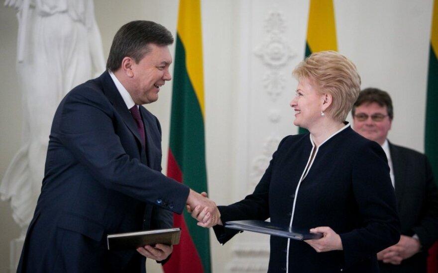 Viktoras Janukovyčius ir Dalia Grybauskaitė
