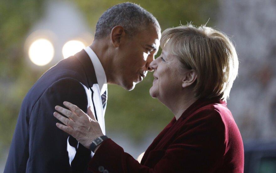 B. Obama ir A. Merkel