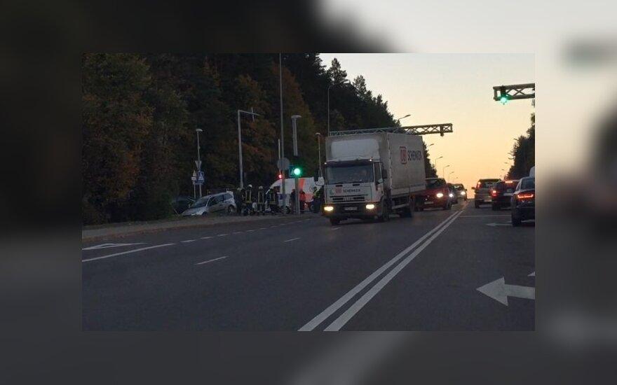 В аварии на окраине Вильнюса пострадали три человека