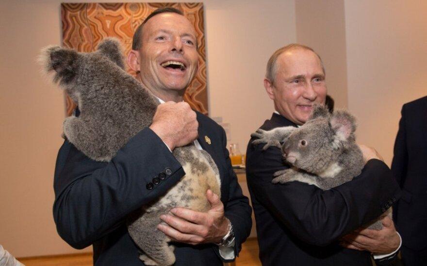 Tony Abbottas ir Vladimiras Putinas