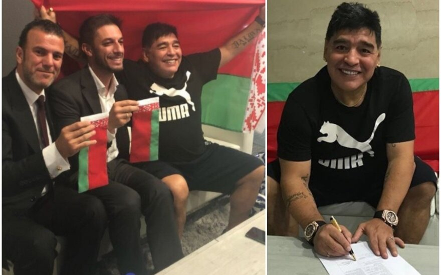 """Maradona ir Bresto """"Dinamo"""""""