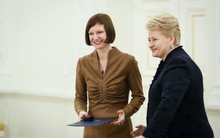 Monika Garbačiauskaitė-Budrienė ir Dalia Grybauskaitė