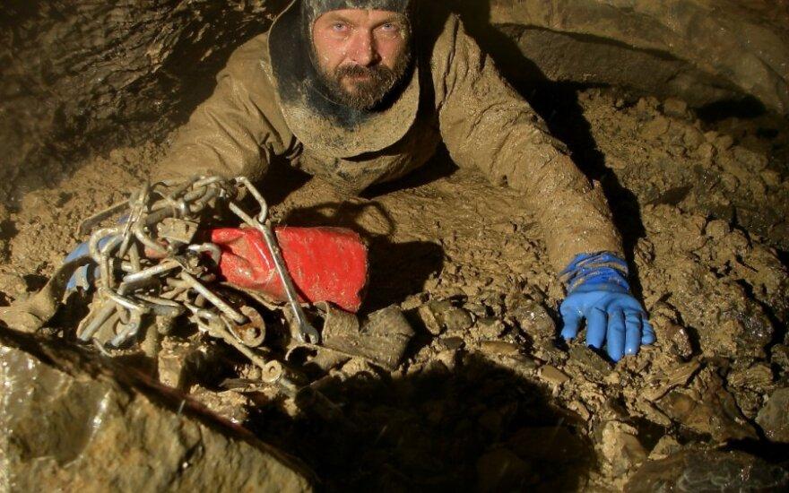 Vienas garsiausių speleologų Genadijus Semochinas