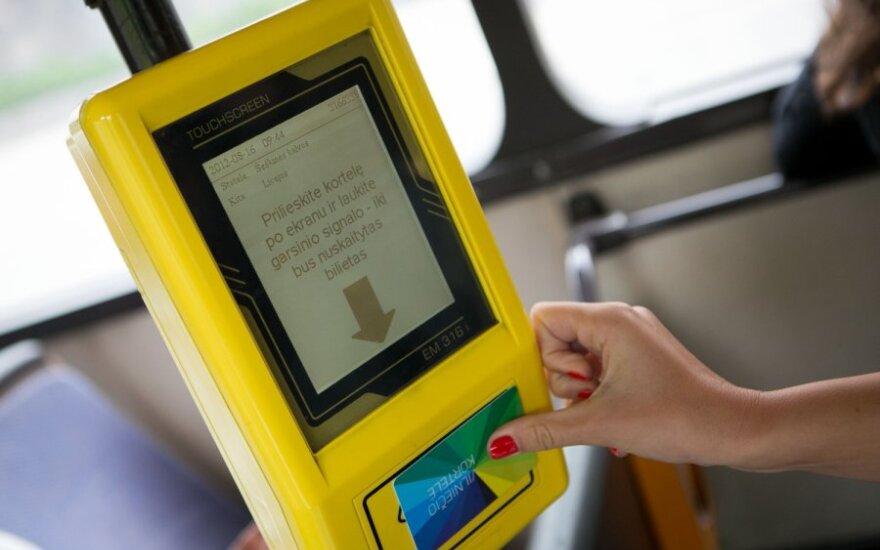 Lietuvos spauda: система электронных билетов в Вильнюсе действует более чем в половине мест продажи