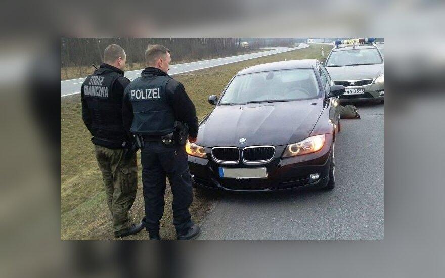 Skradziony samochód. Źródło: strazgraniczna.pl