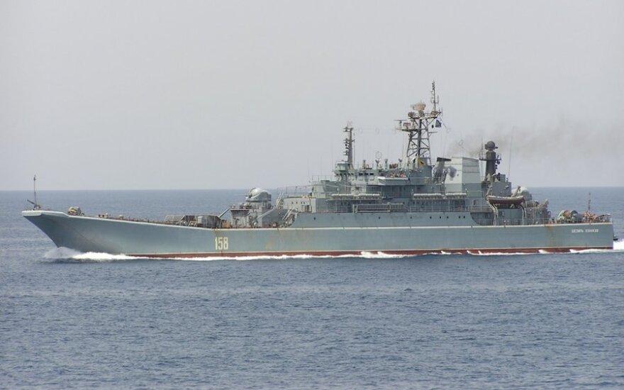 """Rusijos desantinis laivas """"Cezar Kunikov"""""""