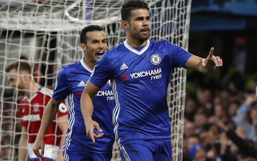 Pedro ir Diego Costa (dešinėje)