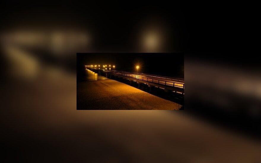 Palangos tiltas, pajūris