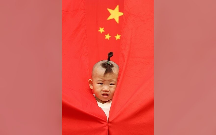 Ребенок, флаг Китая