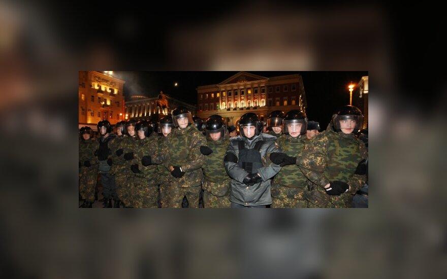 """Maskvos centre sulaikyta 12 opozicijos akcijos """"Rūstybės diena"""" rengėjų"""