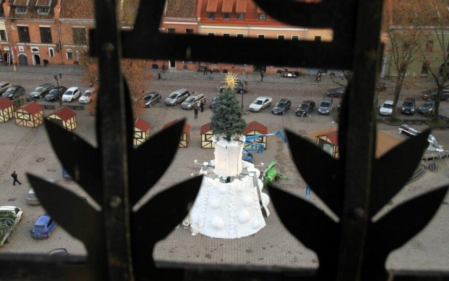 Каунас готовится зажечь рождественскую елку