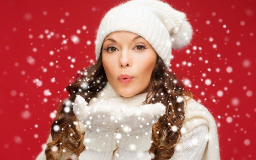 mergina,. sniegas, Kalėdos