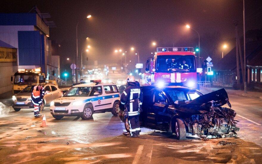 Массовое ДТП в Вильнюсе: есть пострадавшие