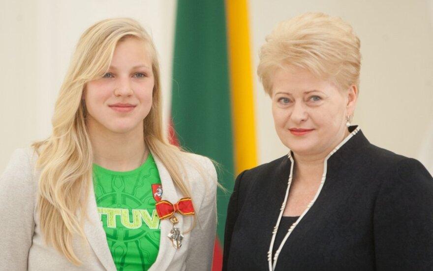 Rūta Meilutytė ir Dalia Grybauskaitė