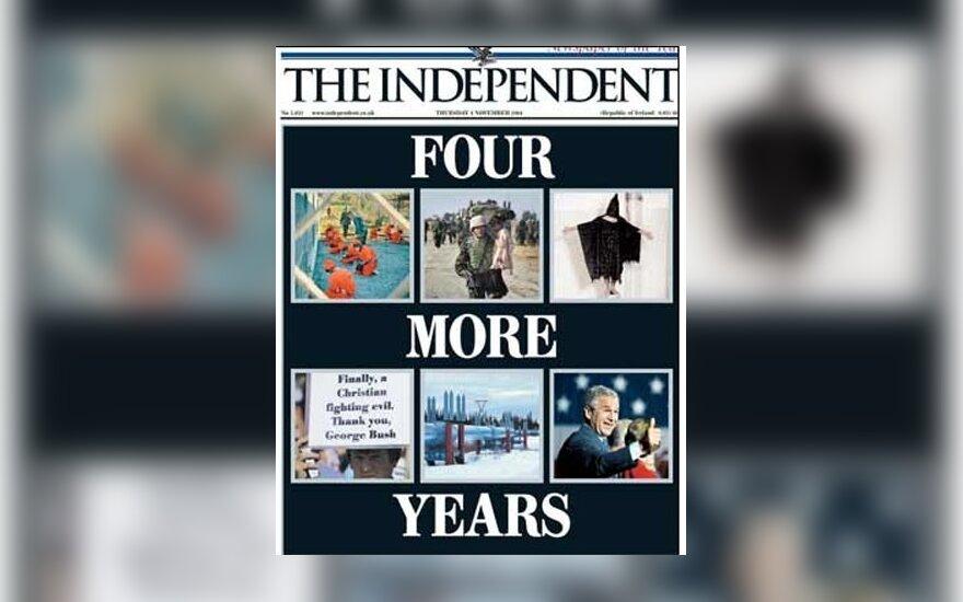 """D.Britanijos dienraštis """"The Independent"""" po rinkimų JAV"""
