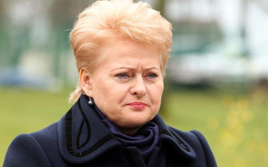 Грибаускайте: Украину ждут трудные времена