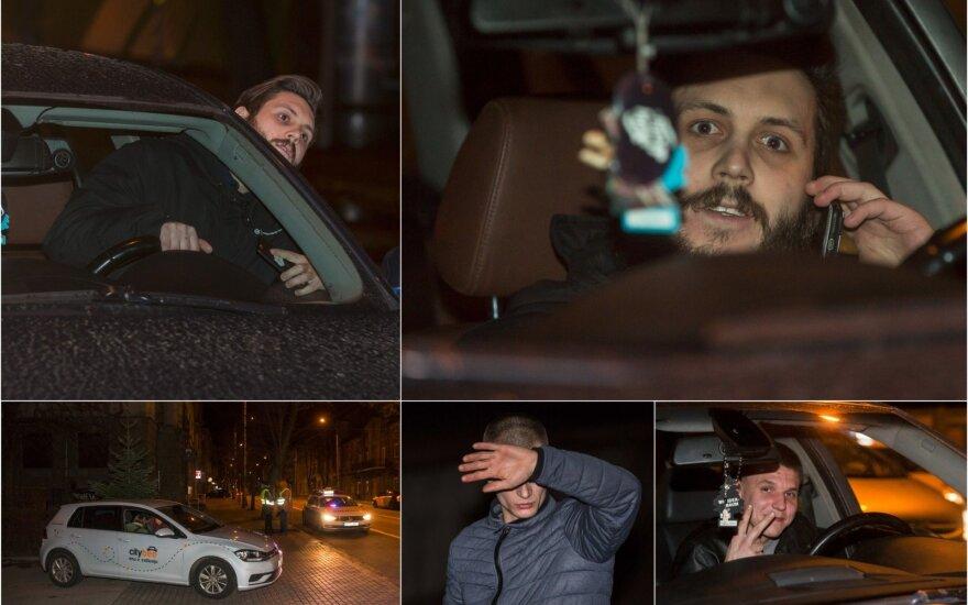 Ночь в Вильнюсе: наивная водитель на City bee и нарушители на BMW