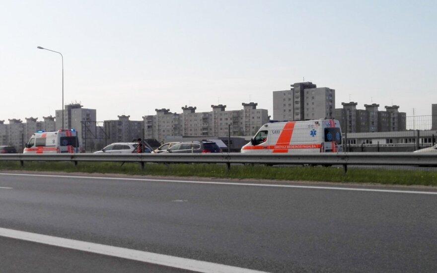 Авария у Каунаса: работают медики, образовались заторы