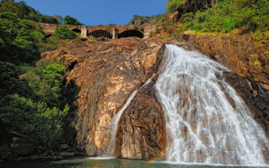 Dudhsagaro krioklys Goa provincijoje, Indijoje