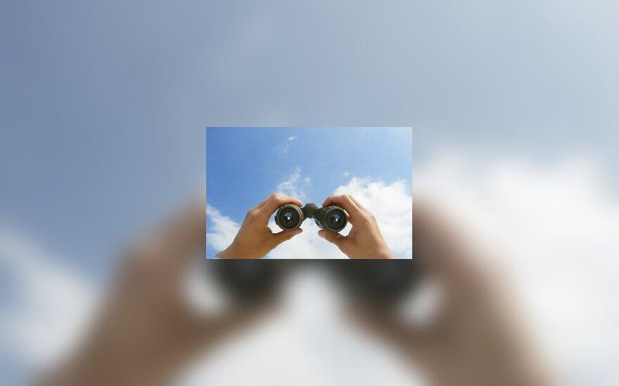 Žiūronai, vizija, perspektyva, dangus, stebėjimas