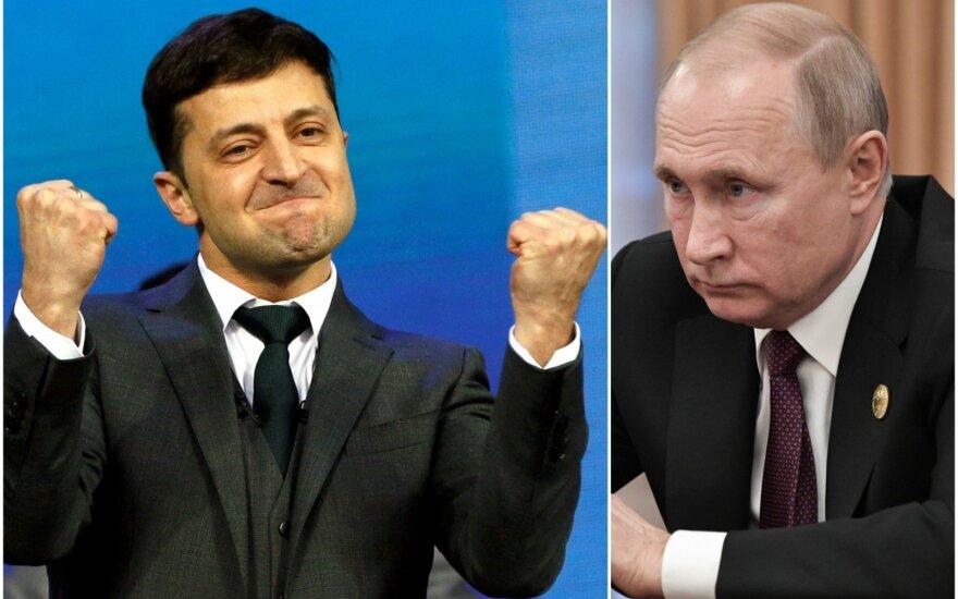 Zelenskis ir Putinas (Reuters ir TASS nuotr.)