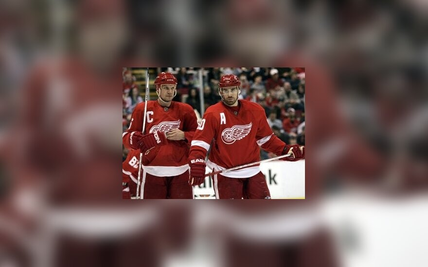 """Nicklasas Lidstromas ir Henrikas Zetterbergas (""""Red Wings"""")"""
